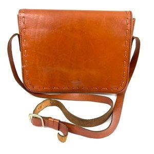 Vintage Magid Leather Flap Crossbody Shoulder Bag